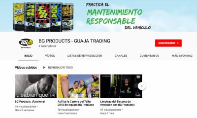 Nuevo canal de Youtube de BG Products