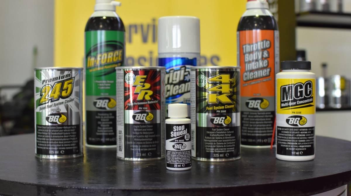 Los productos de BG ayudan a mejorar el rendimiento de los motores.